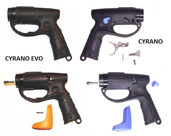 Cyrano Evo and Cyrano rear grips.jpg