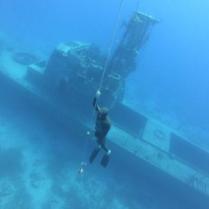 Wreck training in Eilat